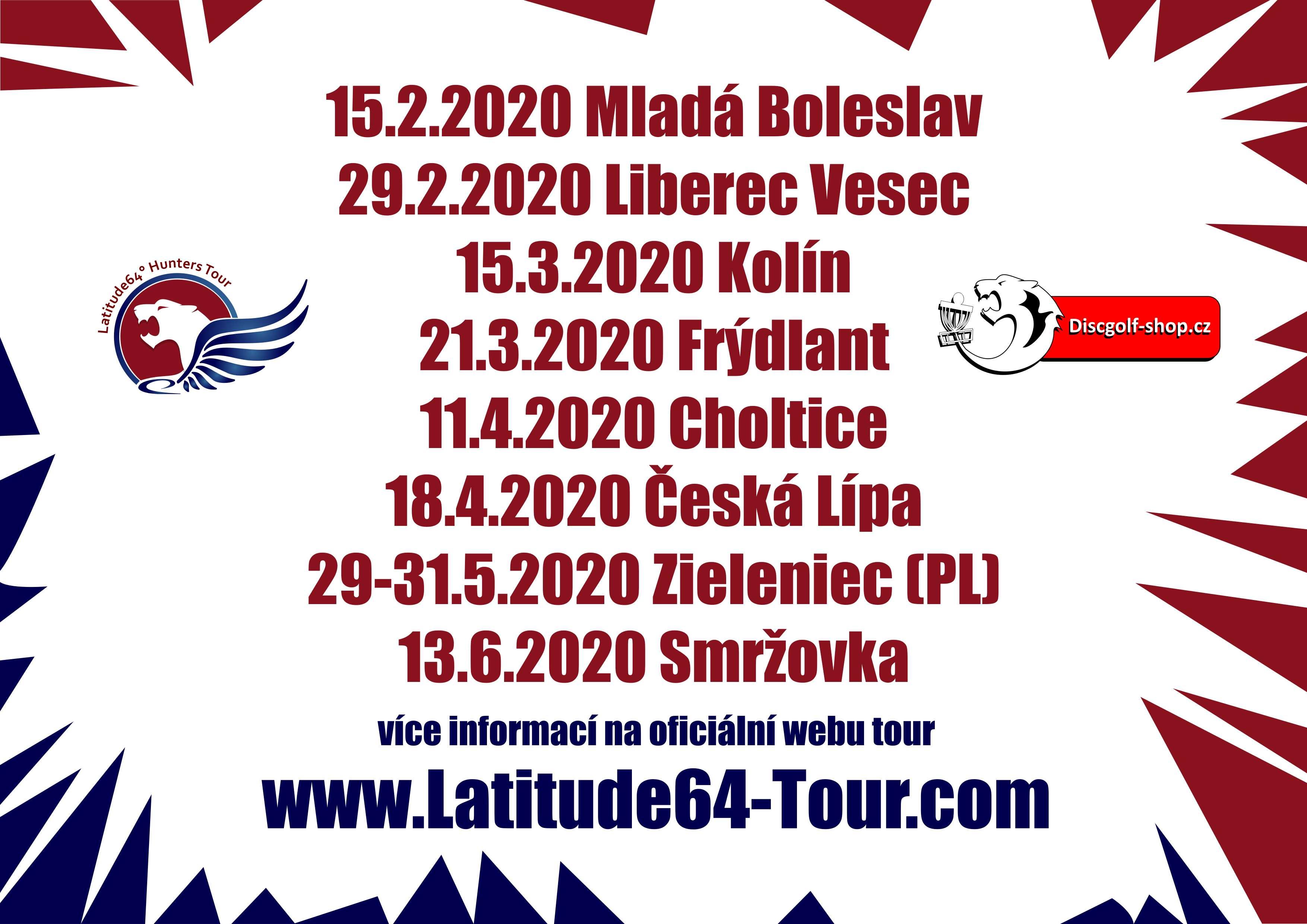 Seznam turnajů pro první část roku ze Severu...