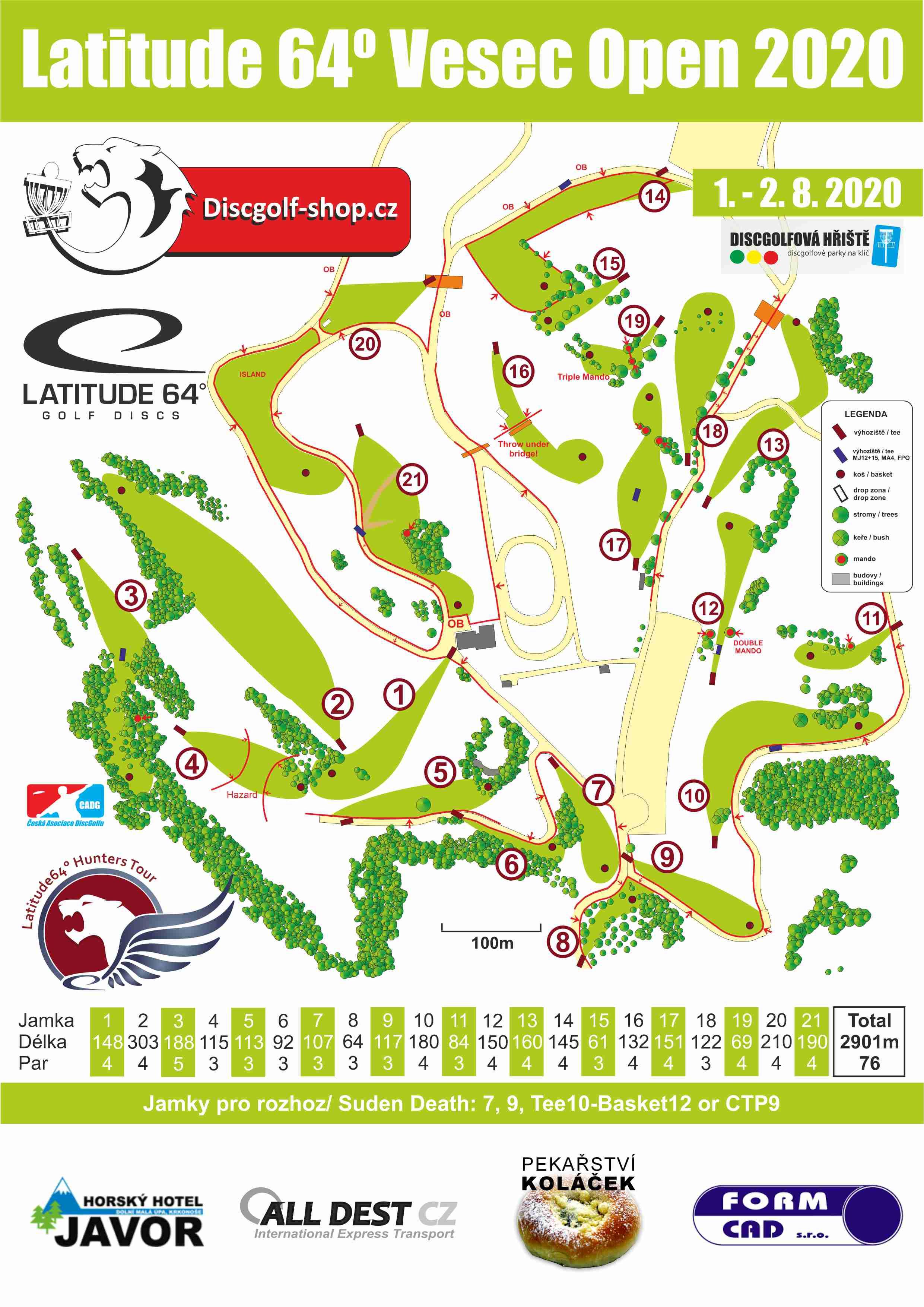 Mapa pro Vesec Open 2020