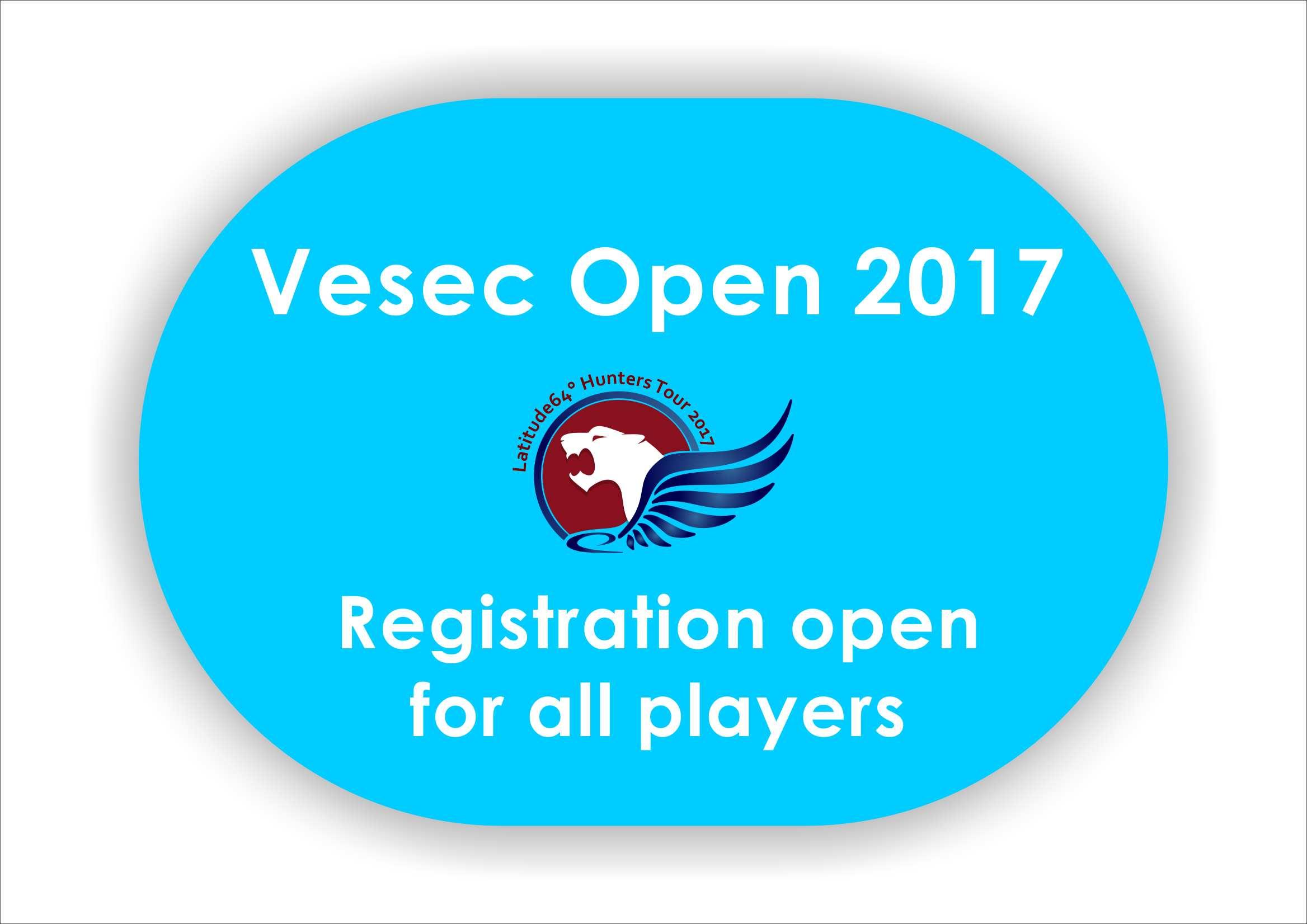 Registrace na Vesec Open již otevřena pro všechny